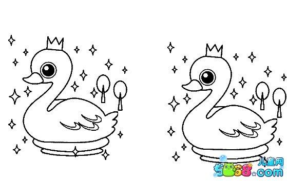 戴王冠的小鸡_动物简笔画-e学堂