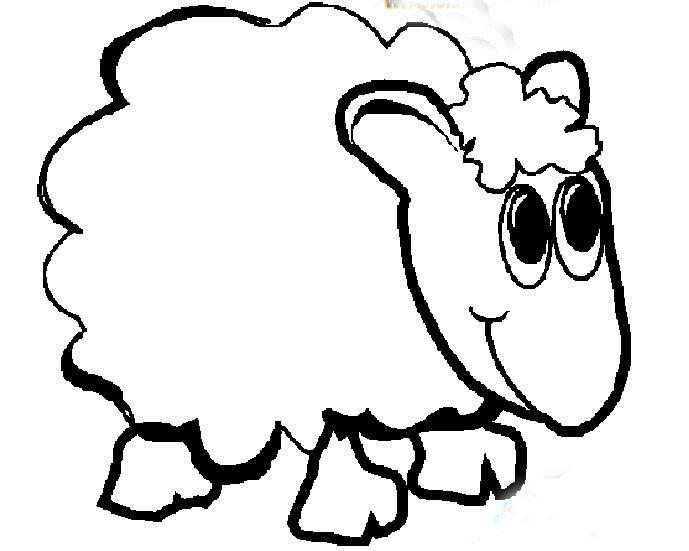 可爱的卡通绵羊_动物简笔画-e学堂