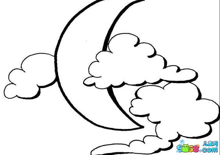 月亮升起来了_风景简笔画-e学堂图片