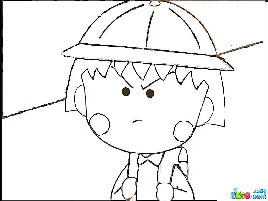 樱桃小丸子_人物简笔画-e学堂