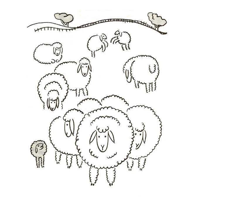 一群羊羊来袭_动物简笔画-e学堂