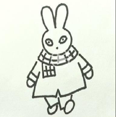 简笔画之如何画兔子_动物简笔画-e学堂