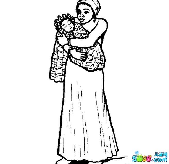 妈妈和宝宝_人物简笔画-e学堂