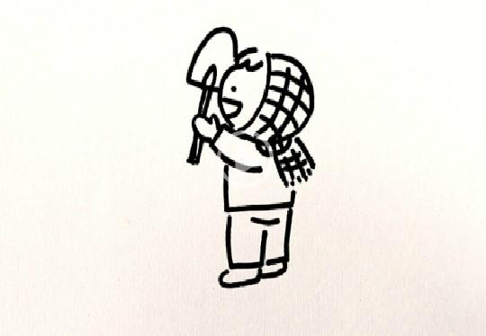 简笔画之如何画小孩(12)_人物简笔画-e学堂