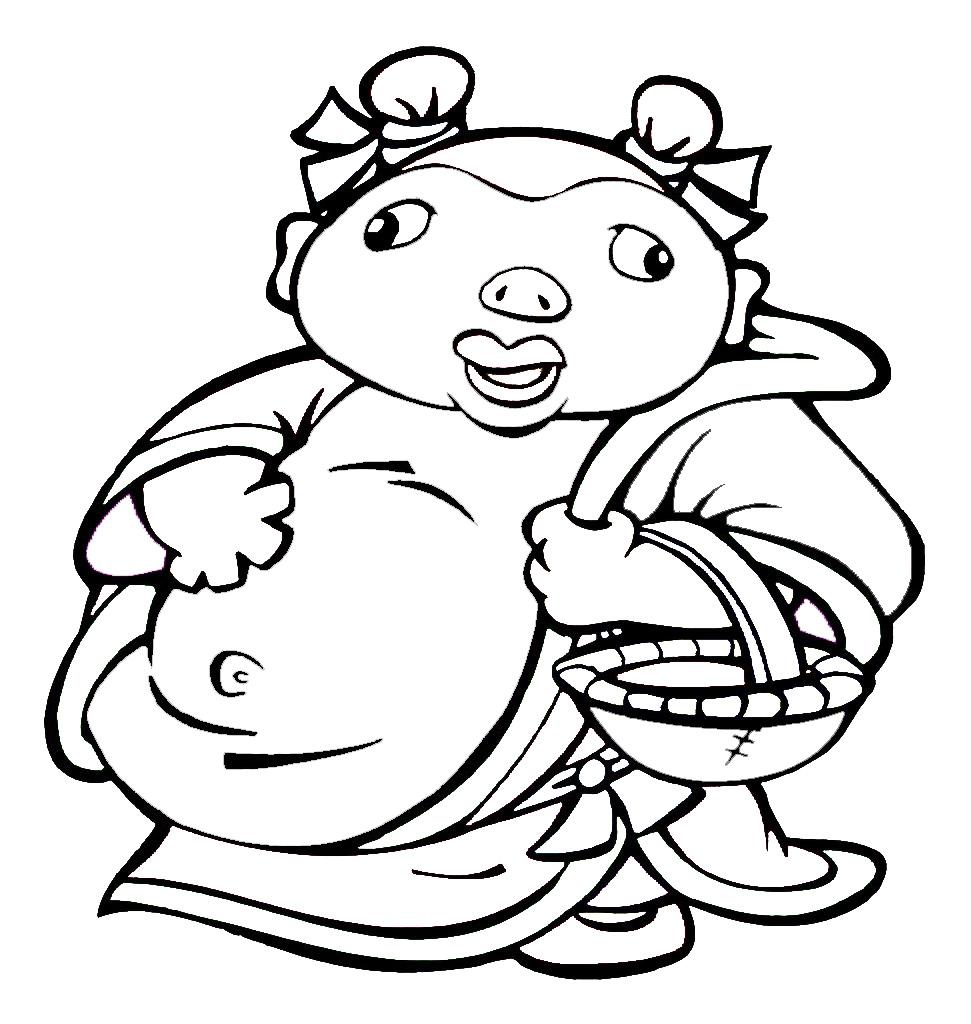 可爱的猪八戒_人物简笔画-e学堂图片