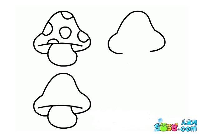 小蘑菇长大了_植物简笔画-e学堂