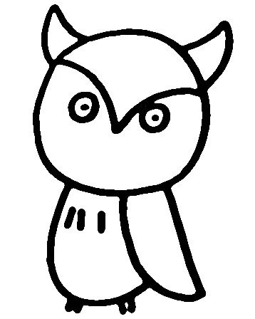 教你如何画猫头鹰 猫头鹰站岗