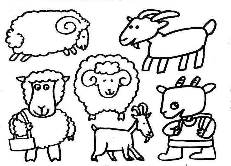 羊族拜年啦_动物简笔画-e学堂