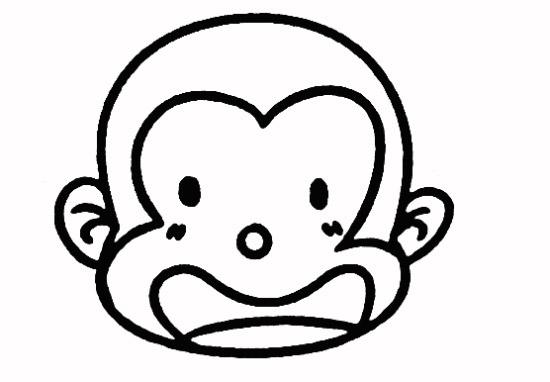教你如何画小猴子 吃桃的小猴子_简笔画教程-e学堂