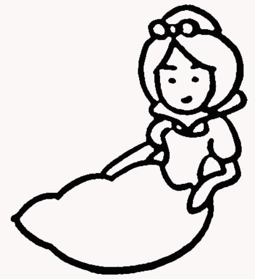 教你如何画白雪公主 善良的白雪公主