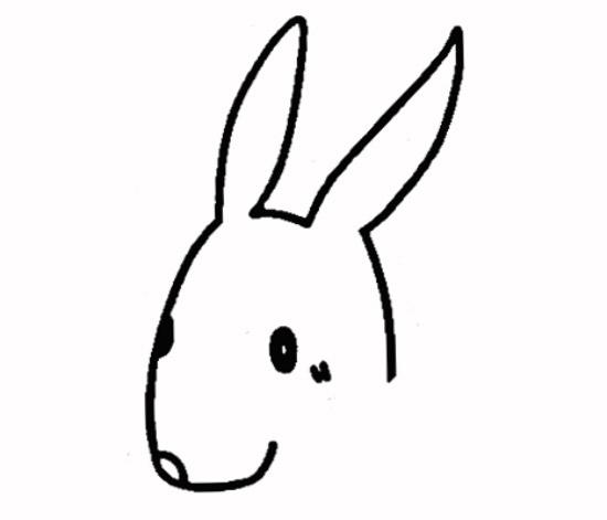 教你如何画兔子 可爱的兔子
