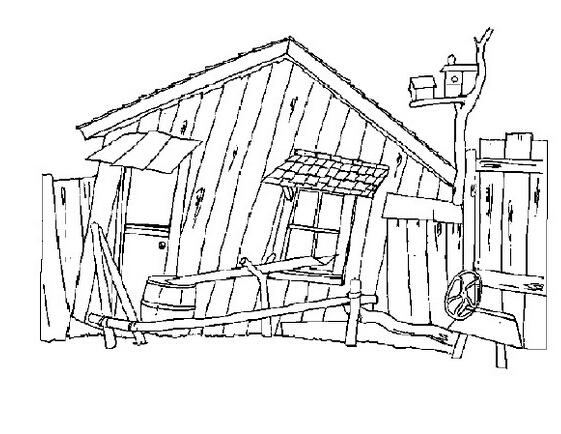 鄉村的房子_風景簡筆畫-e學堂