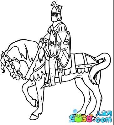 古代的骑士_人物简笔画-e学堂