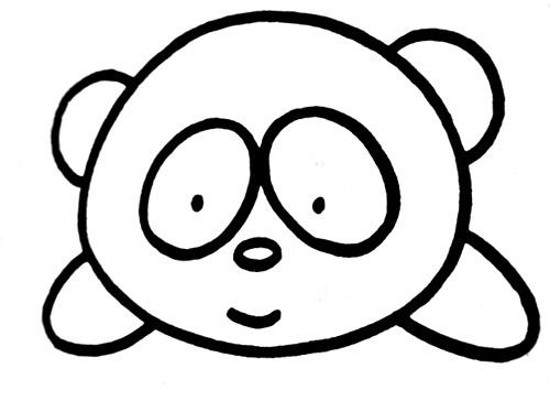 教你如何画熊猫 吃竹子的熊猫