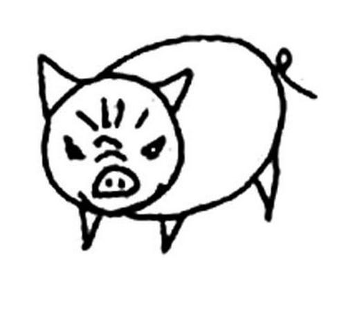 愤怒的小猪_动物简笔画-e学堂