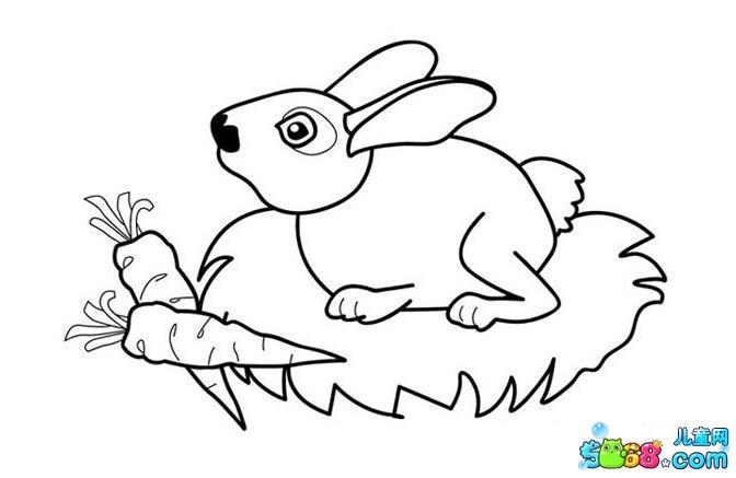 小兔子爱吃萝卜_动物简笔画-e学堂
