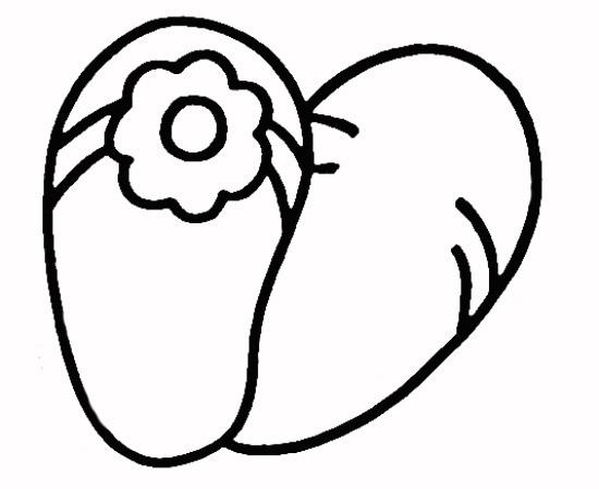 教你如何画体拖鞋 漂亮的人字拖图片