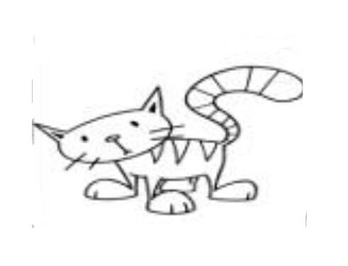 疑问的小猫_动物简笔画-e学堂