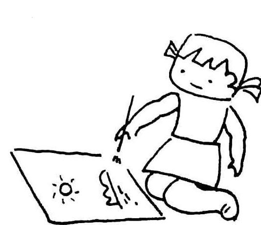 小女孩画画_人物简笔画-e学堂