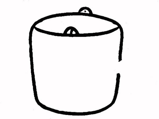 教你如何画水桶 装水的水桶