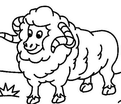 可爱的羊羊_动物简笔画-e学堂