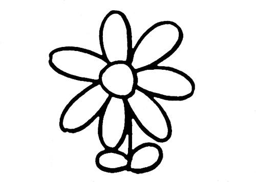 小花图案简笔画图片