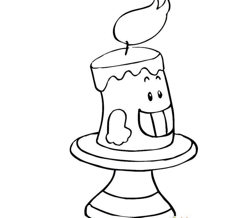 可爱蜡烛简笔画