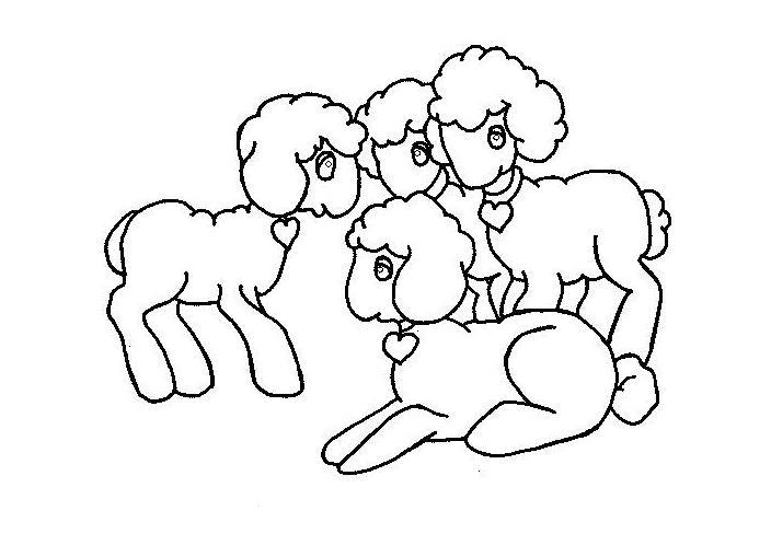 爱心羊_动物简笔画-e学堂