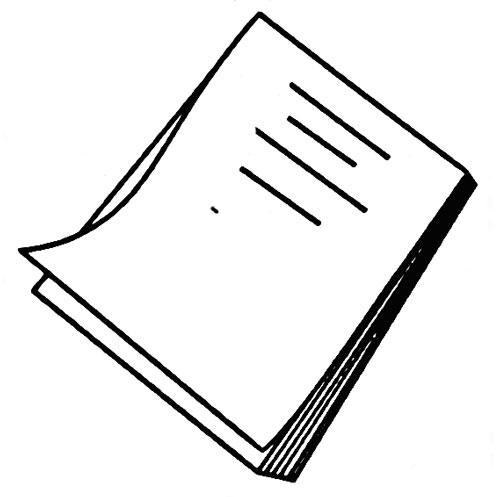 教你如何画作业本 写作业的作业本