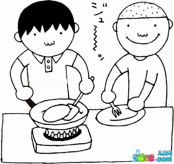 我为妈妈做饭_人物简笔画-e学堂