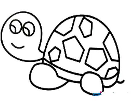 超简单的小乌龟_动物简笔画-e学堂