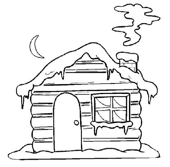 高清房子风景线稿