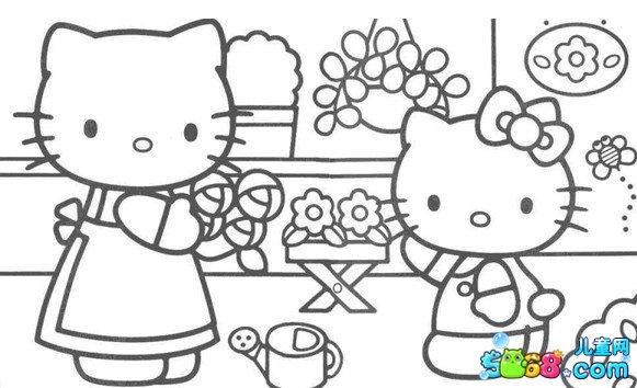 kitty开超市_动物简笔画-e学堂图片
