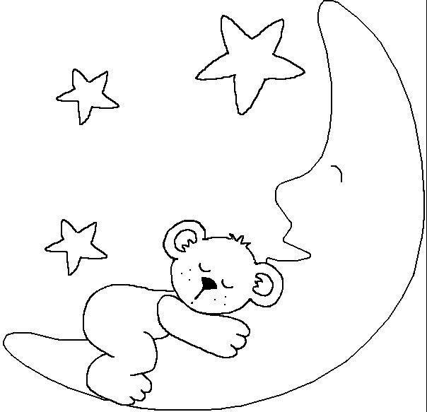 小熊睡在月亮上_动物简笔画-e学堂
