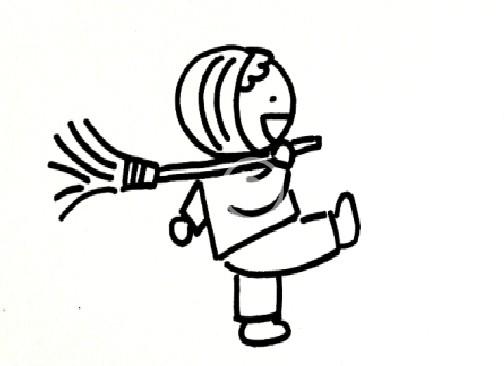 简笔画之如何画小孩(11)_人物简笔画-e学堂