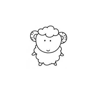 萌萌的羊羊_动物简笔画-e学堂