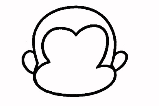教你如何画小猴子 吃桃的小猴子