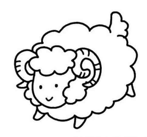 超萌的卡通小羊_动物简笔画-e学堂