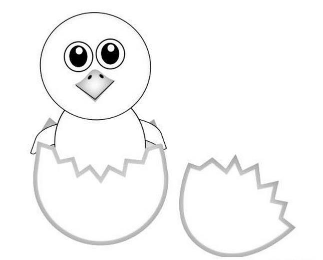 可爱卡通小鸡简笔画