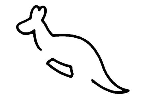 教你如何画袋鼠 跳跃的袋鼠 _简笔画教程-e学堂