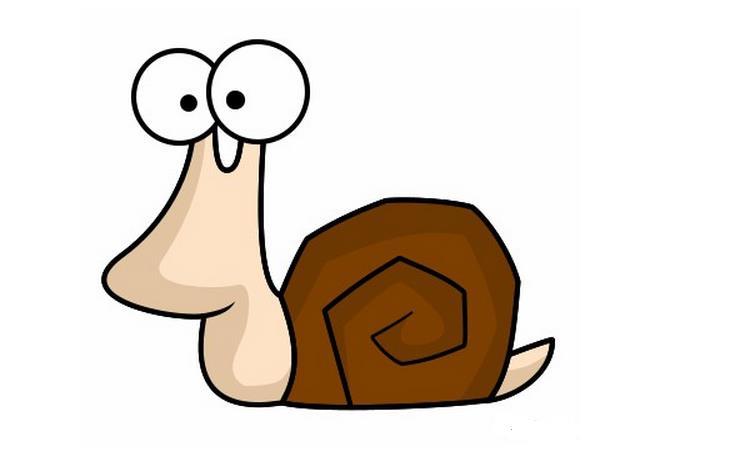 可爱的小蜗牛_动物简笔画-e学堂