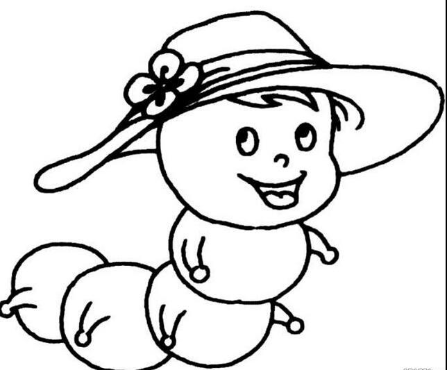 戴帽子的毛毛虫_动物简笔画-e学堂