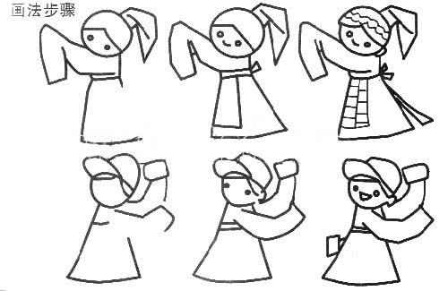 跳舞简笔画跳舞简笔画