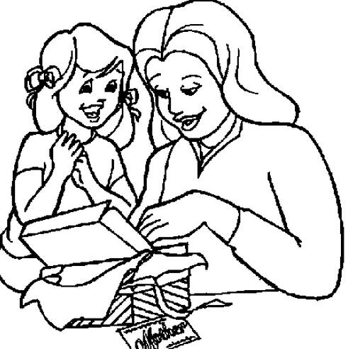 送给妈妈的礼物_人物简笔画-e学堂