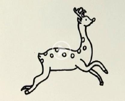简笔画之奔跑的小鹿