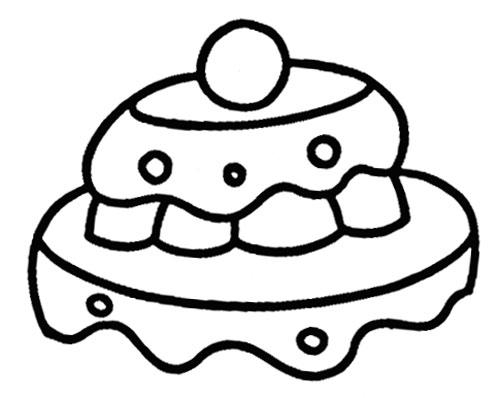 教你如何画蛋糕 生日蛋糕