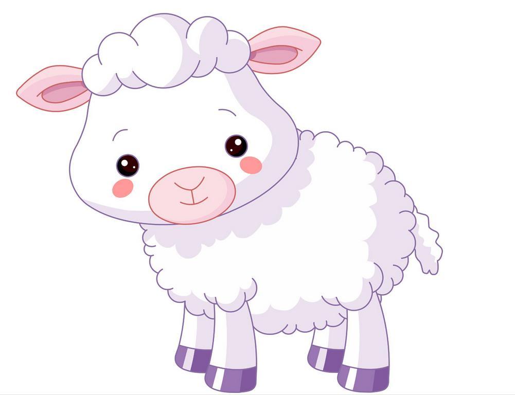 可爱的呆萌羊_动物简笔画-e学堂