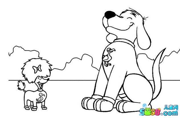 小狗手绘图片简笔画