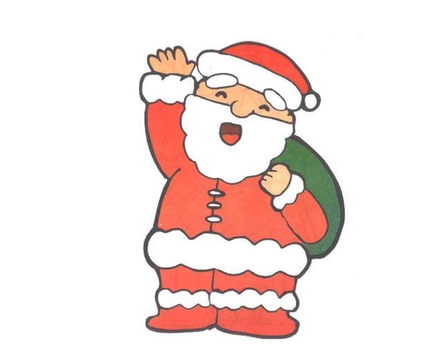 打招呼的圣诞老人